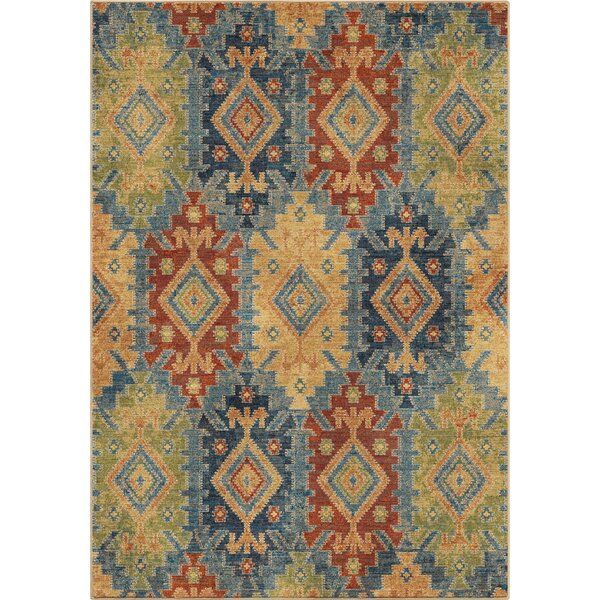 Marvin Green/Blue/Red Area Rug by Loon Peak