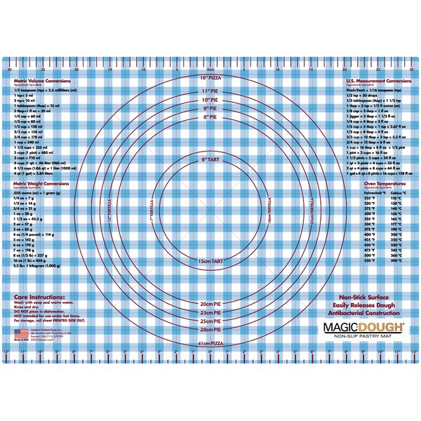 Gingham Dough Non-Slip Flexible Pastry Mat by Magic Slice