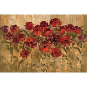 'Sunshine Florals' Painting Print on Wrapped Canvas by Fleur De Lis Living