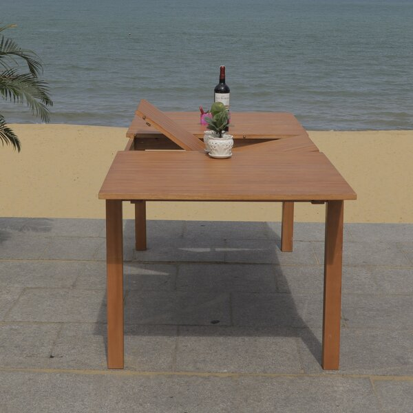 Upper Stanton Wooden Dining Table by Highland Dunes