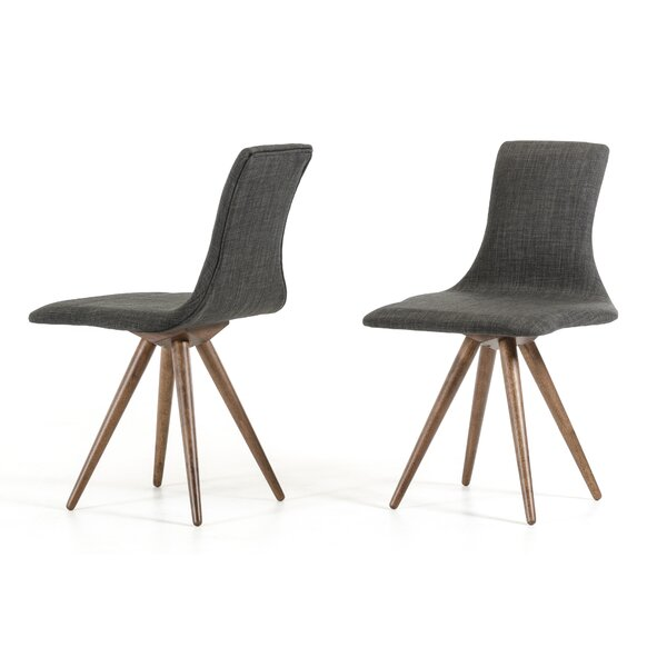 Tomita Side Genuine Leather Upholstered Dining Chair (Set of 2) by Corrigan Studio