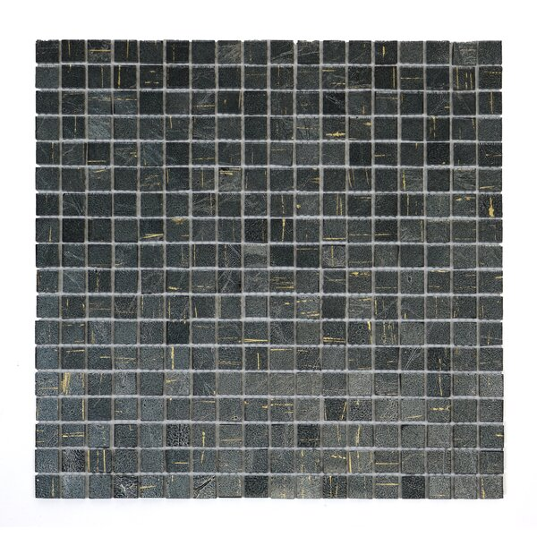 Micro Folia 0.56 x 0.56 Glass Mosaic Tile in Amethys Gray by Solistone
