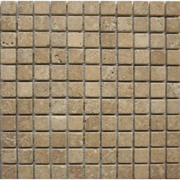 1 x 1 Travertine Mosaic Tile in Noche by Ephesus Stones