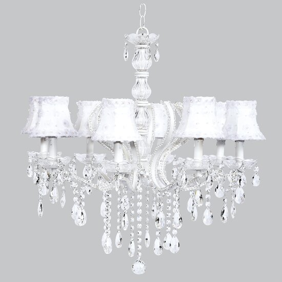8 - Light Shaded Classic / Traditional Chandelier By Jubilee Collection