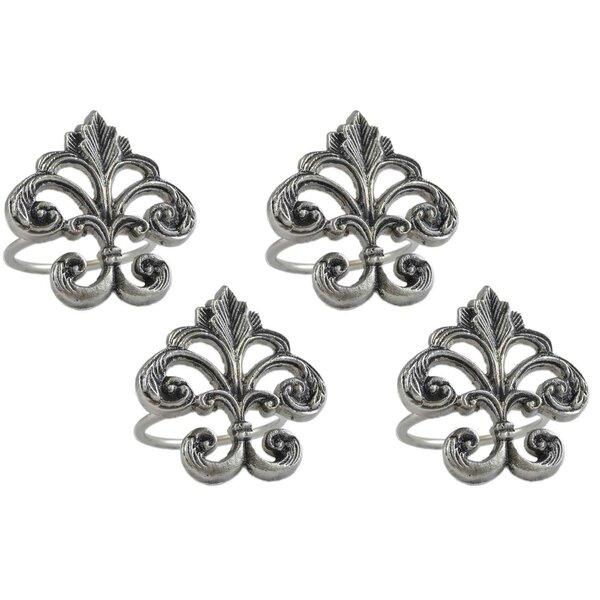 Fleur De Lis Napkin Ring (Set of 4) by Design Imports