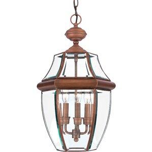 Saddler 3 Light Outdoor Hanging Lantern