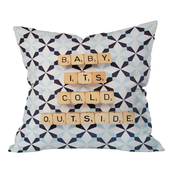 Happee Monkee Baby Its Cold Outside Throw Pillow by Deny Designs