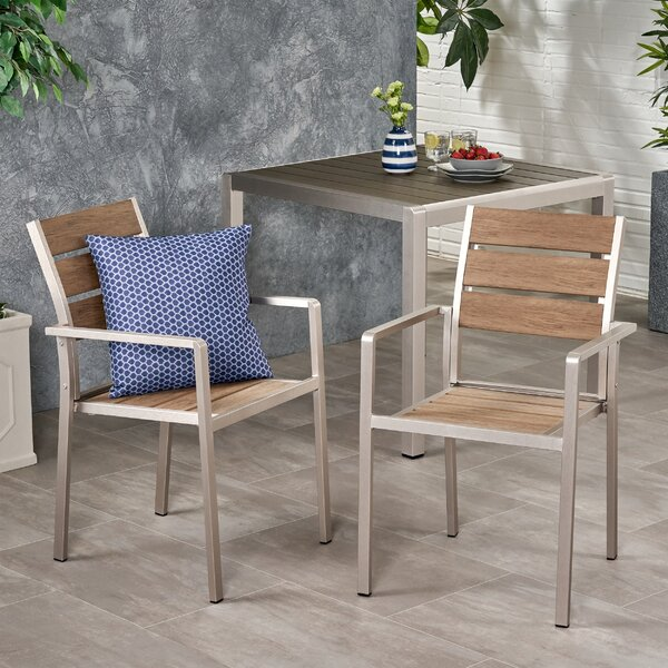 Duong Coral Patio Dining Chair by Wrought Studio