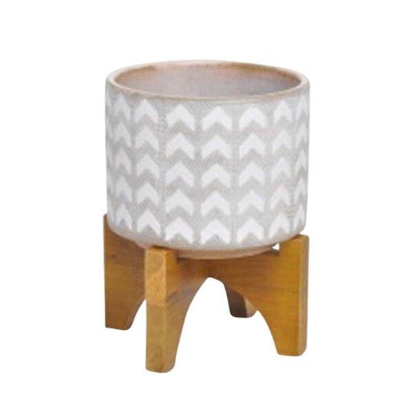 Lineberry Ceramic Pot Planter by Wrought Studio
