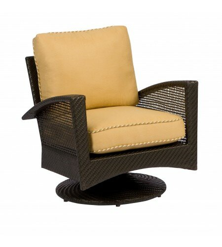 Trinidad Swivel Patio Chair with Cushions by Woodard