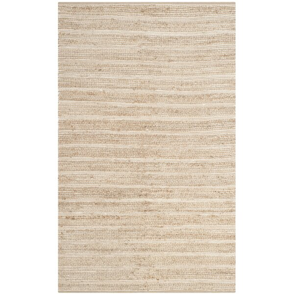 Arria Hand-Woven Rectangle Natural/Ivory Area Rug by Highland Dunes