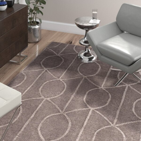 Abbey Hand-Tufted Mauve Area Rug by Wade Logan