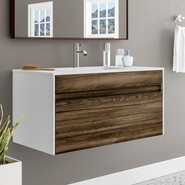 Frida 36 Wall-Mounted Single Bathroom Vanity Set b