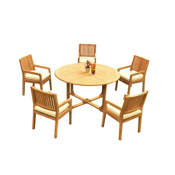 Mastin 6 Piece Teak Dining Set by Rosecliff Heights