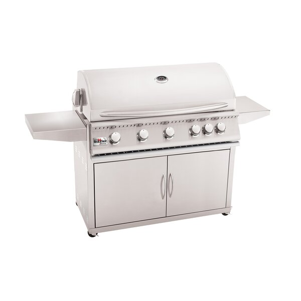Sizzler Propane Gas Grill with Side Shelves by Summerset Professional Grills