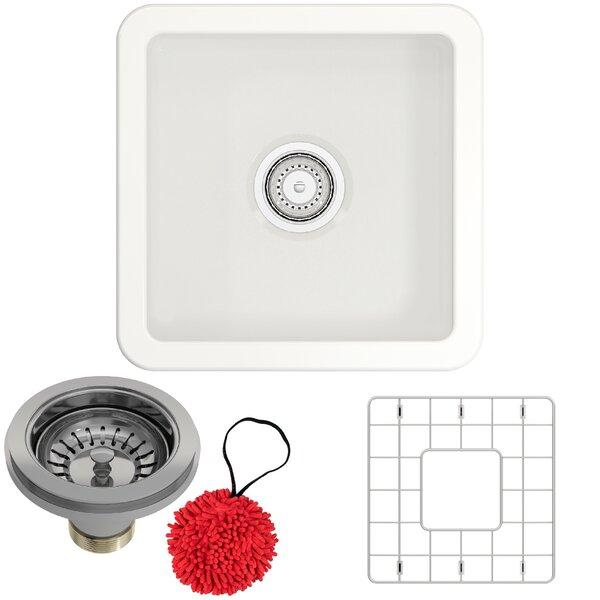18 L x 18 W Drop-In Kitchen Sink with Basket Strainer