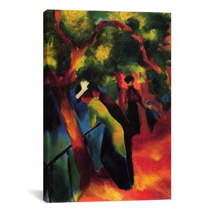 'Sunny Way' by August Macke Painting Print on Wrapped Canvas by iCanvas