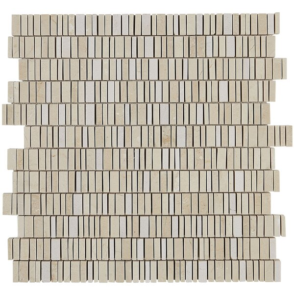 Harrison 12 x 12 Marble Mosaic Tile in Crema Marfil Classico by Itona Tile