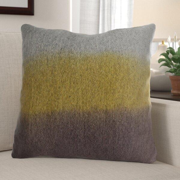 Weimer Felt Wool Throw Pillow by Millwood Pines