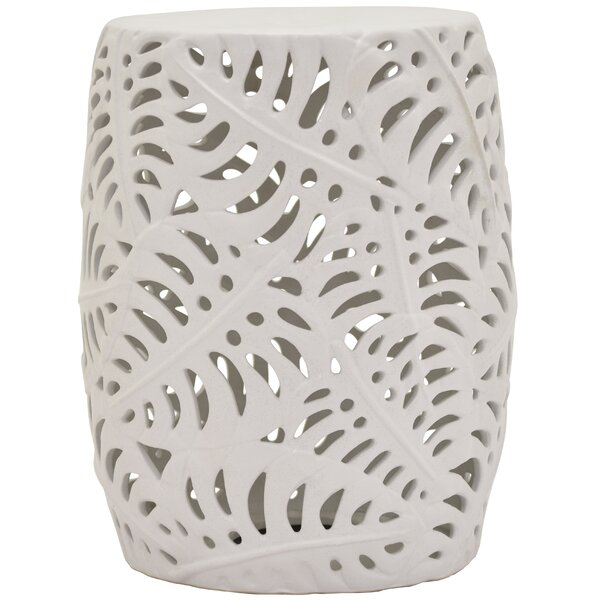 Wesley Ceramic Garden Stool by Bungalow Rose