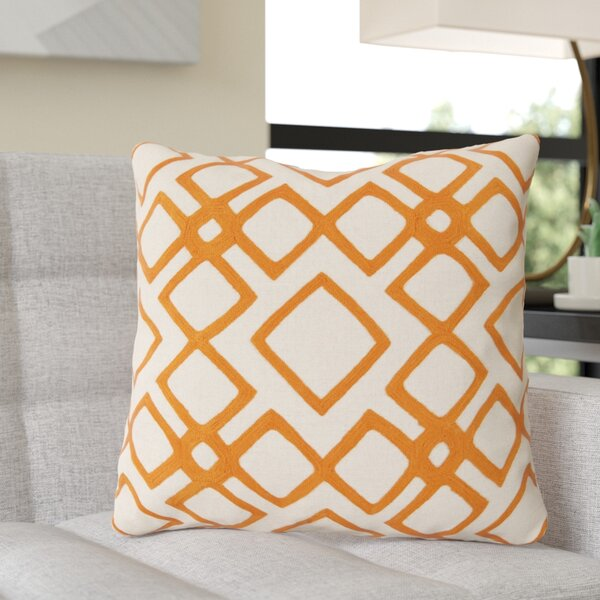 Luka Diamond Linen Throw Pillow by Wade Logan