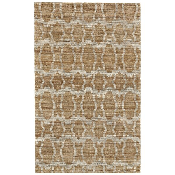 Reich Hand-Woven Gold Area Rug by Bloomsbury Market