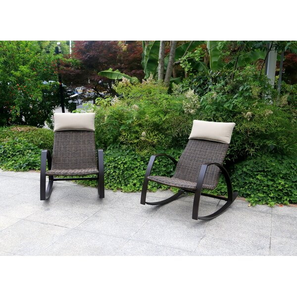 Lachance Woven Rocking Chair (Set of 2) by Ivy Bronx