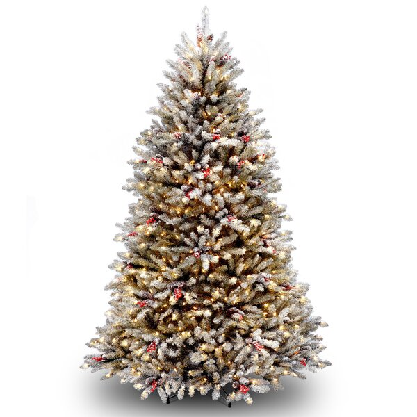 Dunhill Green Fir Artificial Christmas Tree with Clear Lights with Stand by Rosdorf Park