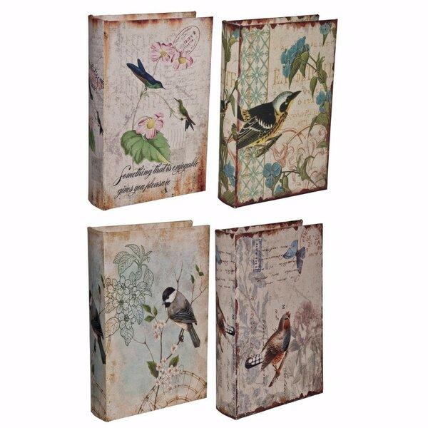 Denchev Bird Book 4 Piece Decorative Box Set by August Grove