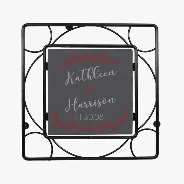 Personalized Couples Iron Trivet by Monogramonline Inc.