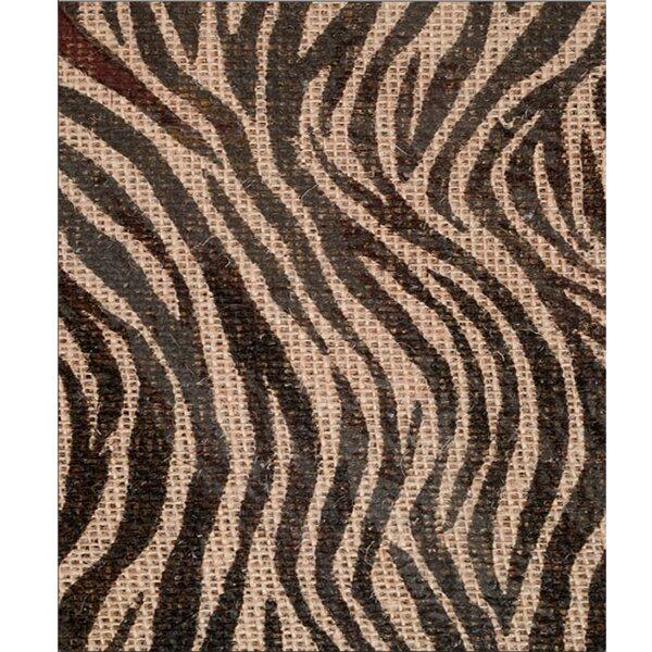 Navarette Zebra Print Jute Table Runner by Bloomsbury Market