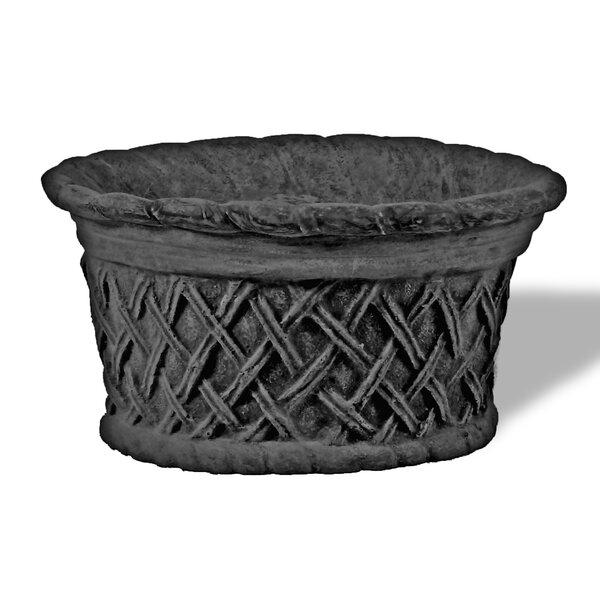 Lattice Resin Stone Pot Planter by Amedeo Design