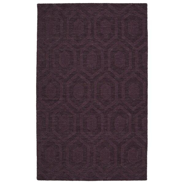 Dobson Handmade Purple Area Rug by Ebern Designs