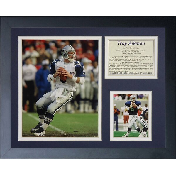 Troy Aikman Throwback Framed Memorabilia by Legends Never Die