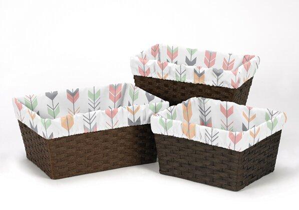 Mod Arrow 3 Piece Basket Liner Set by Sweet Jojo Designs