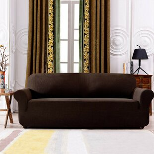 Plaid Stretch Box Cushion Sofa Slipcover