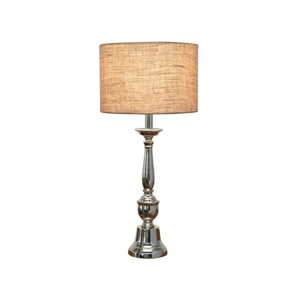 Musser Nickel 22 Table Lamp by August Grove