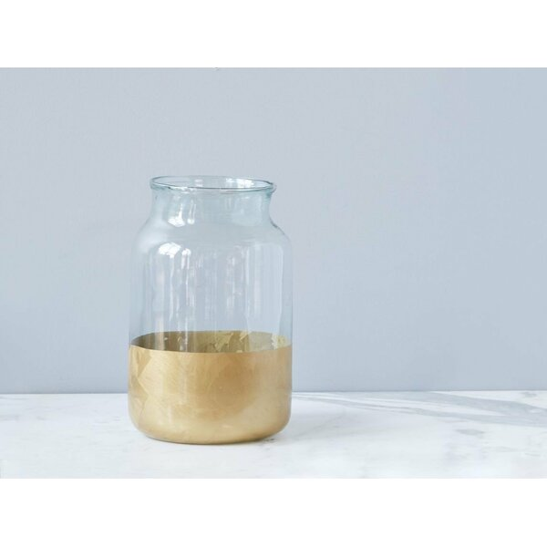 Frost Colorblock Glass Mason Jar by etúHOME