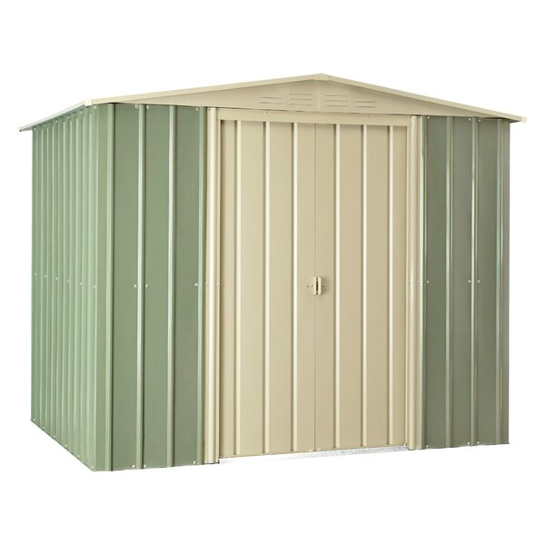 7 ft. 8 in. W x 5 ft. 9 in. D Metal Storage Shed by Globel