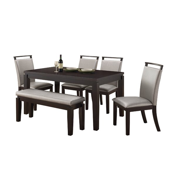 Wimbish Burrows 6 Piece Solid Wood Dining Set by Orren Ellis
