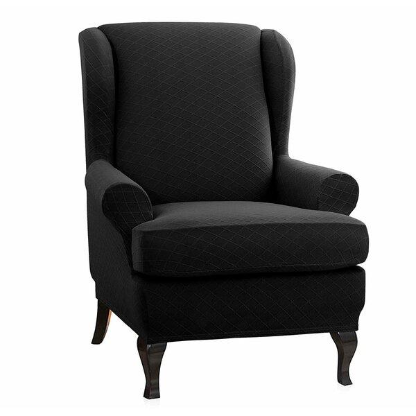Deals Price Super Stretch T-Cushion Wingback Slipcover
