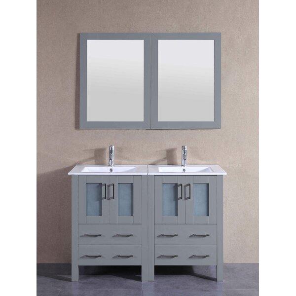Andora 49 Double Bathroom Vanity Set with Mirror by Bosconi