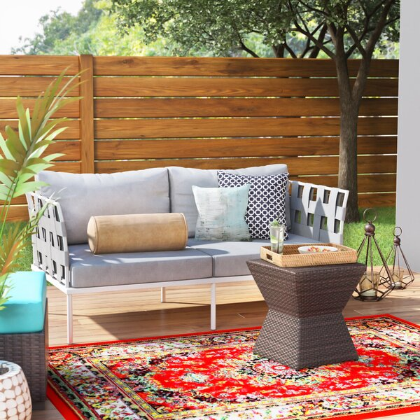 Darnell Outdoor Patio Loveseat with Cushions by Brayden Studio Brayden Studio