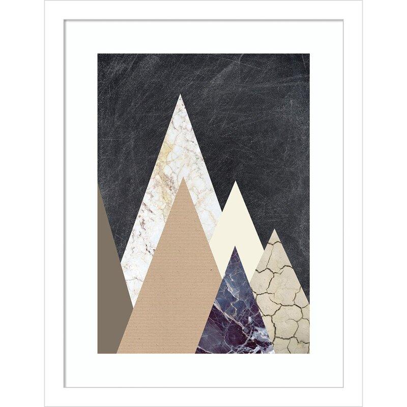 Mercer41 Design Fabrikken Collection Peaks 2 Mountain Picture Frame Print On Paper Wayfair