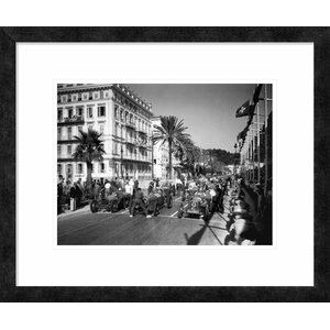 'Depart du Grand Prix Automobile de Nice 1934' by Delius Framed Photographic Print by Global Gallery