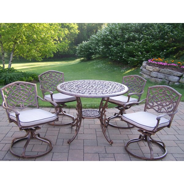 Mississippi Swivel 5 Piece Dining Set with Cushions by Oakland Living