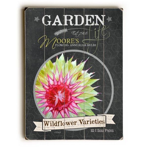 Garden Wildflower Varieties Wooden Textual Art by August Grove