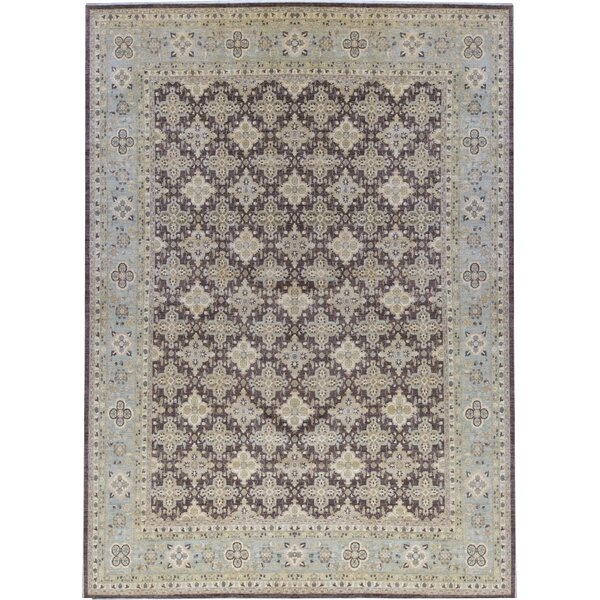 Ziegler Hand-Knotted Wool Brown/Light Blue Rug