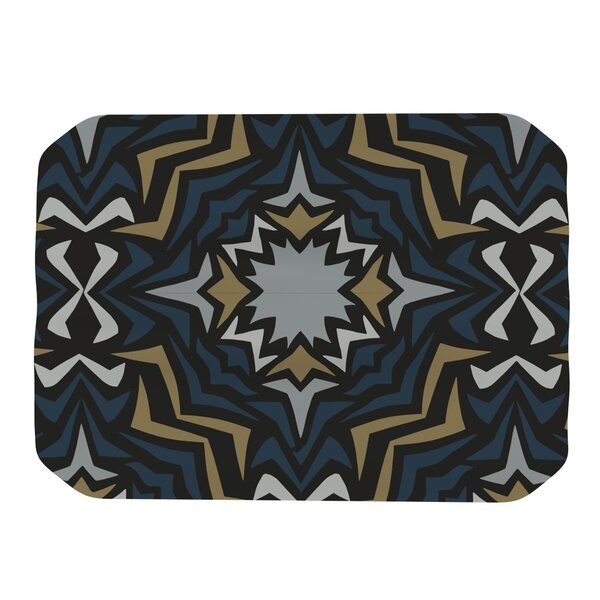 Winter Fractals Placemat by KESS InHouse