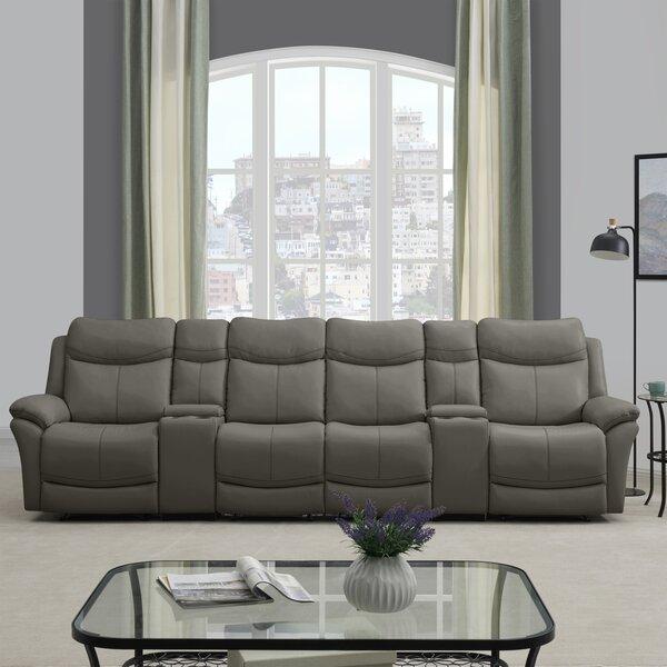 Cheryll 4 Seat Wall Hugger Reclining Sofa by Red Barrel Studio